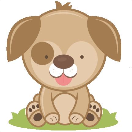 Cutting file cut dog. Clipart puppy svg