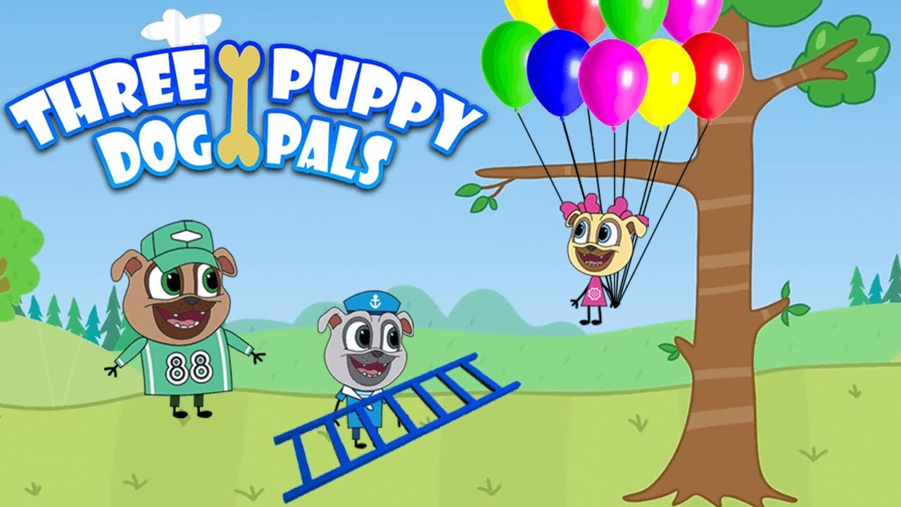 Clipart puppy three puppy. Dog pals the balloons