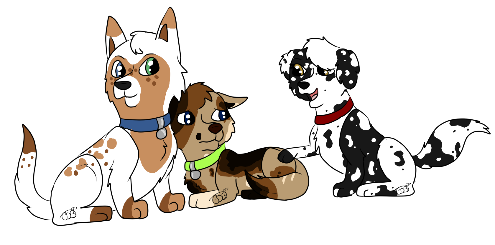 Clipart puppy three puppy. There s always someone
