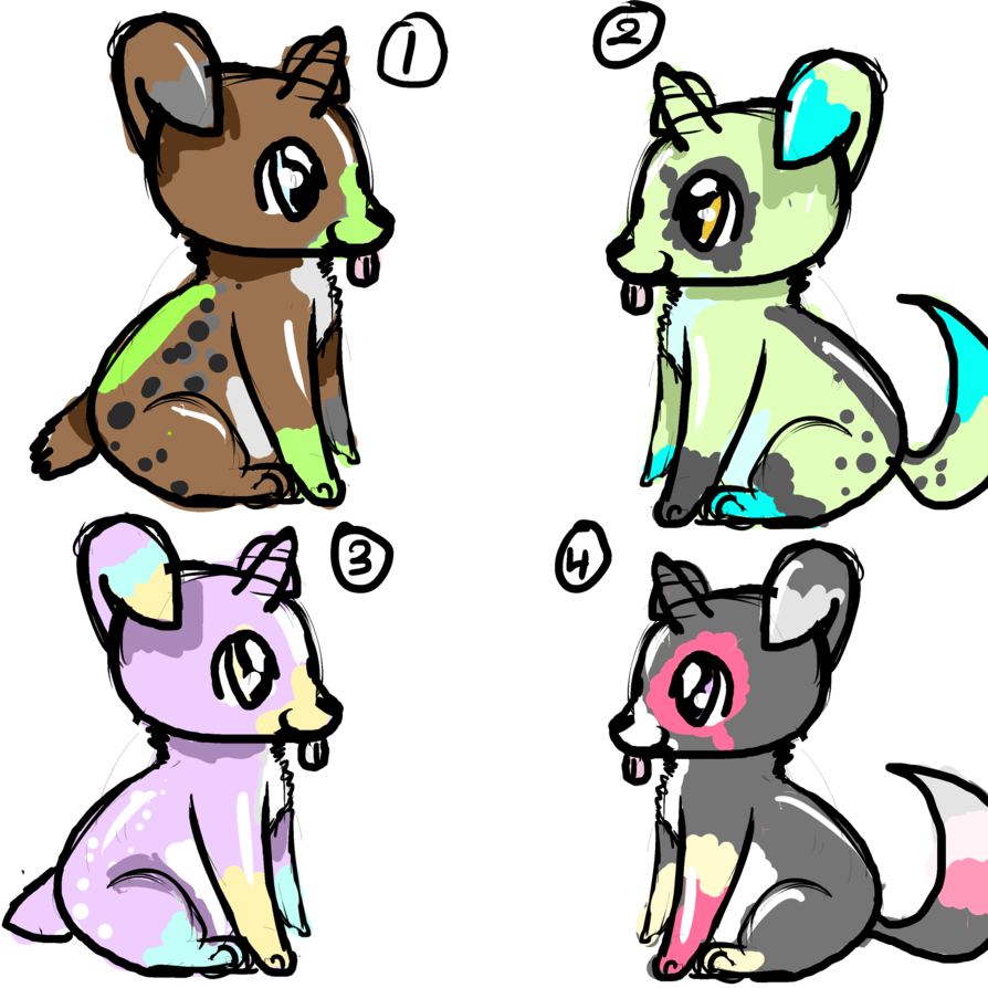 Clipart puppy unicorn. Adoptables low price by