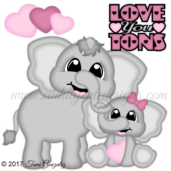 Love you tons . Clipart winter puppy