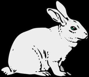 Clipart rabbit. Gray clip art at