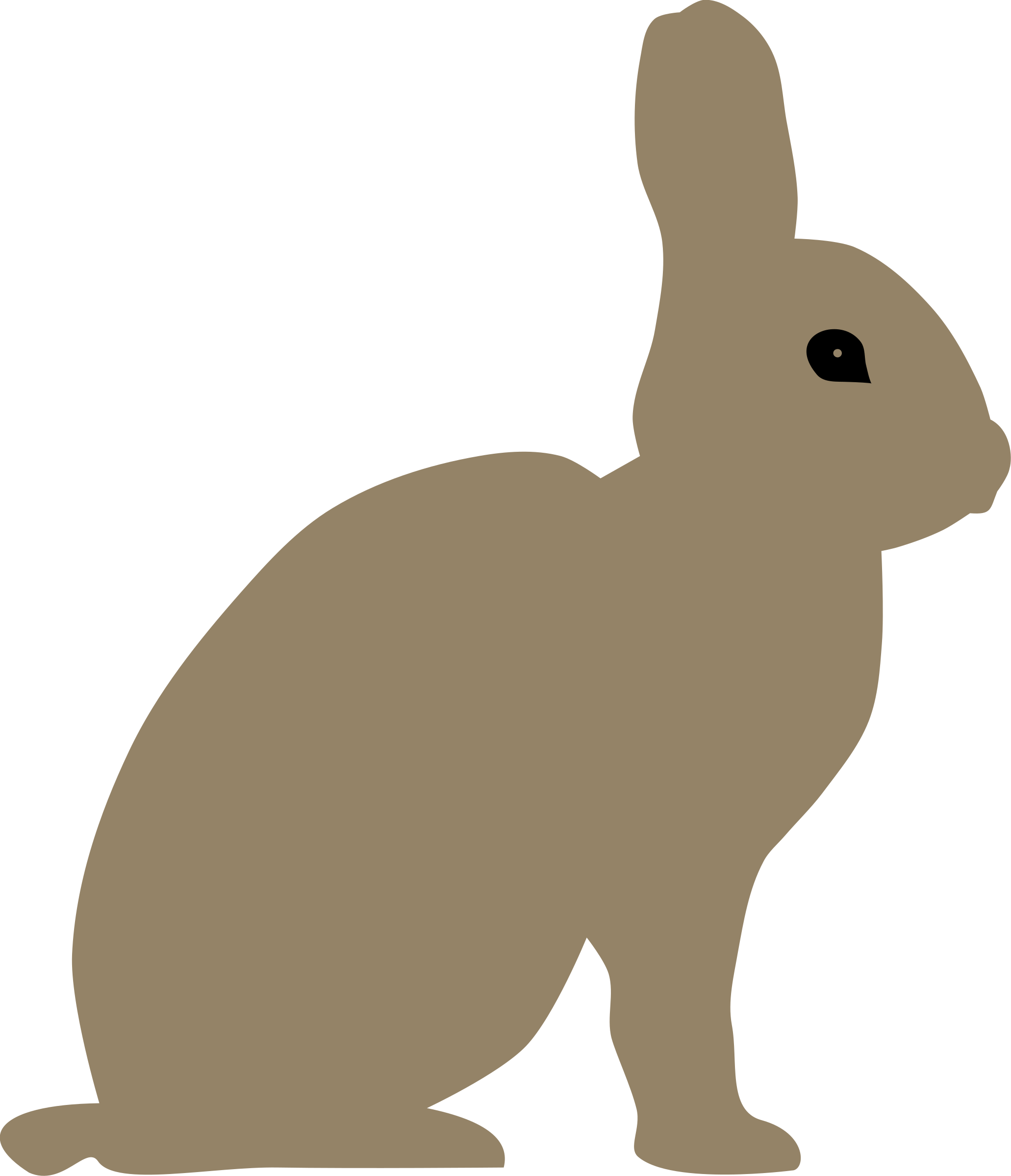 Clipart rabbit arctic hare. By rones big image