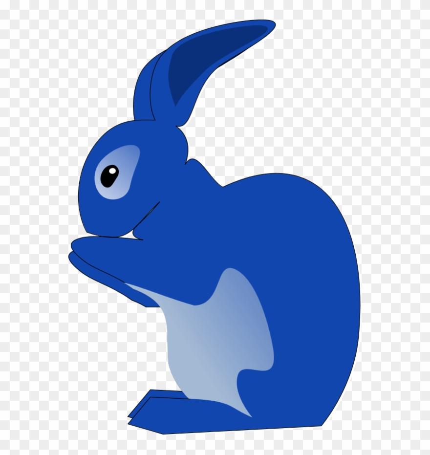 Clipart rabbit blue. Clip art png