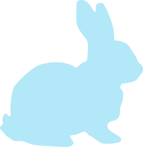 Clipart rabbit blue. Clip art at clker