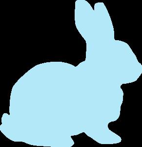 Clip art at clker. Clipart rabbit blue