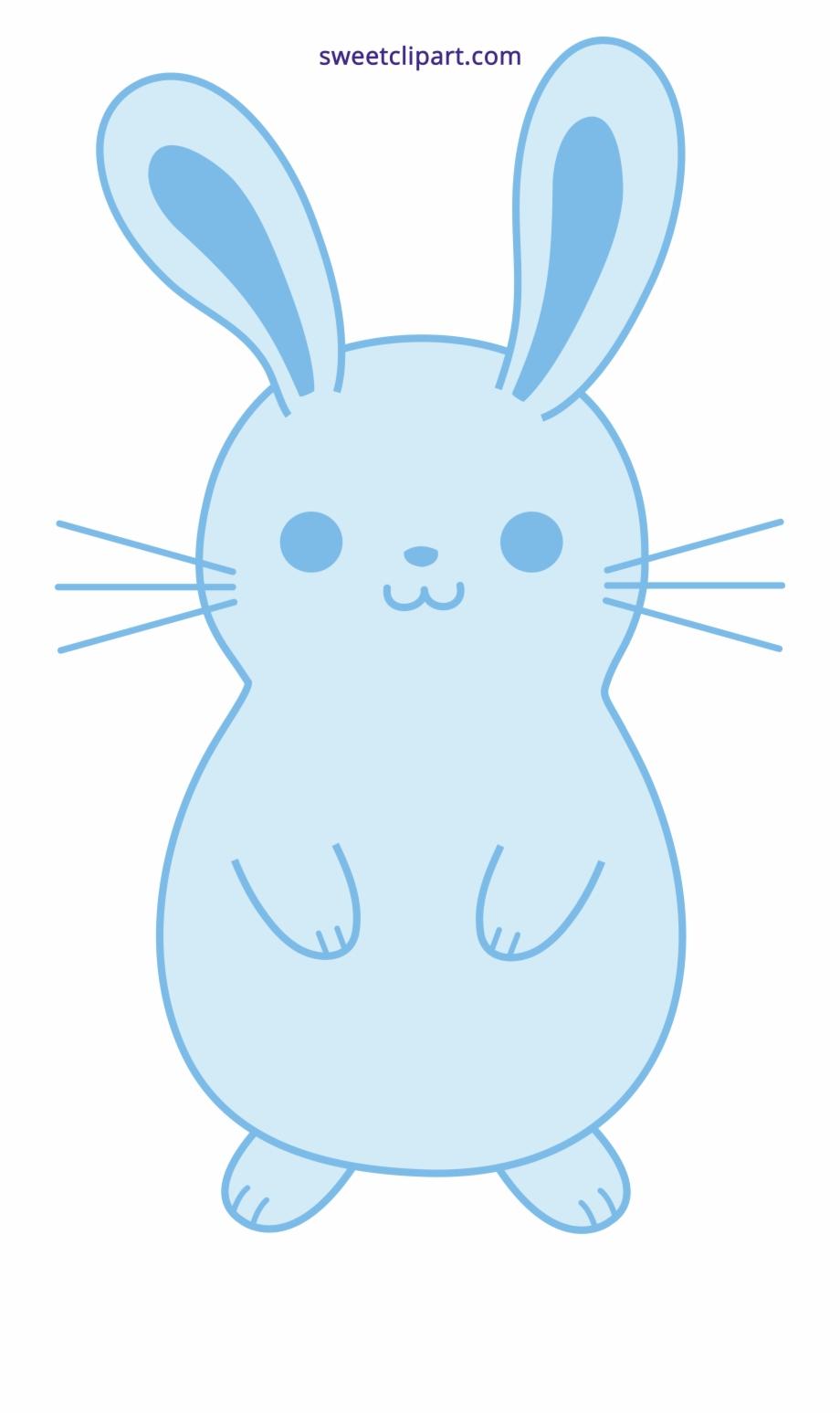 Clipart rabbit blue. Ideas cute easter bunny