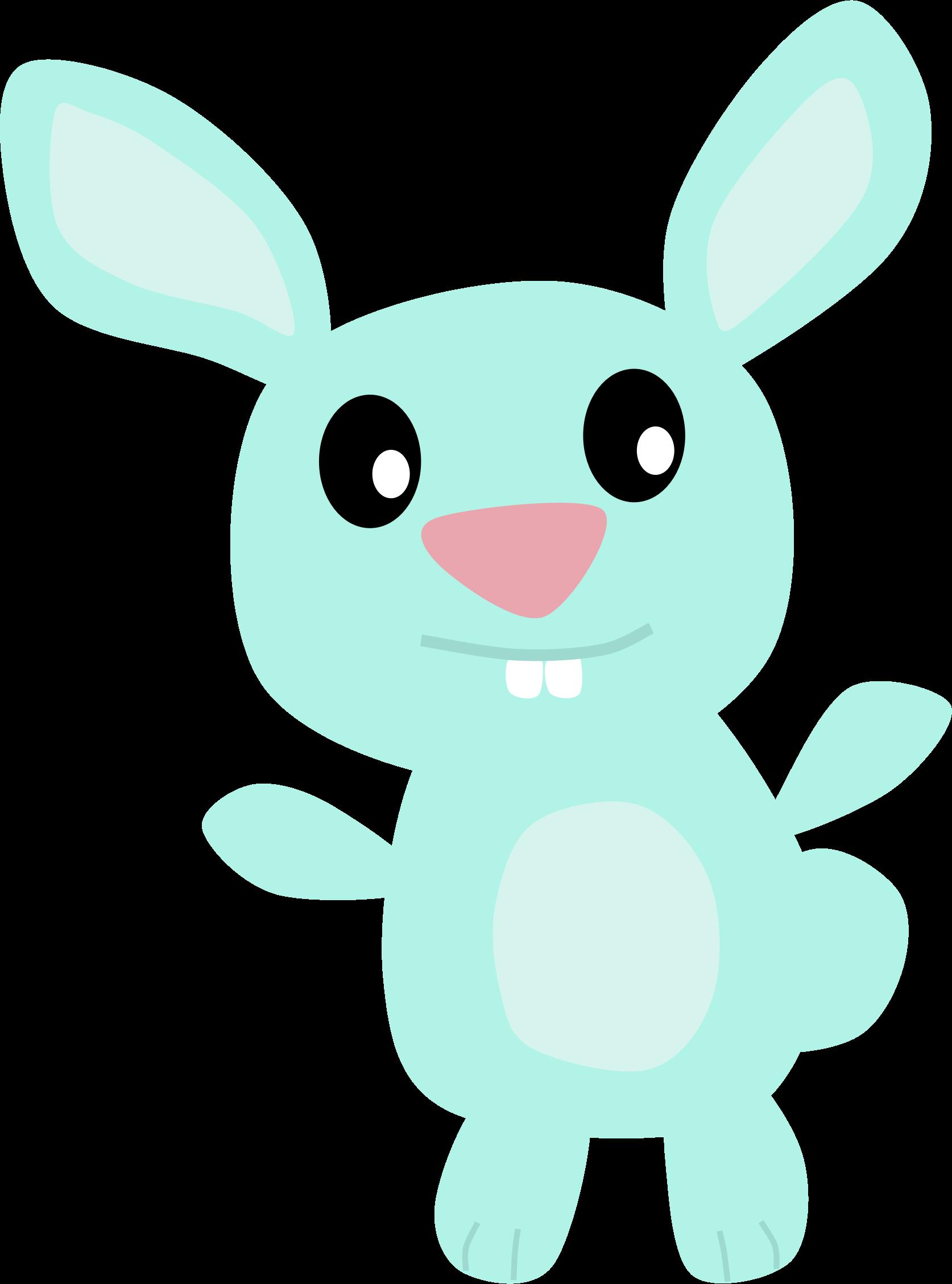 Bunny big image png. Clipart rabbit blue