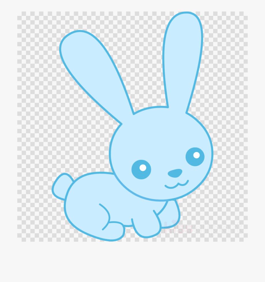 Bunny ears transparent rick. Clipart rabbit blue