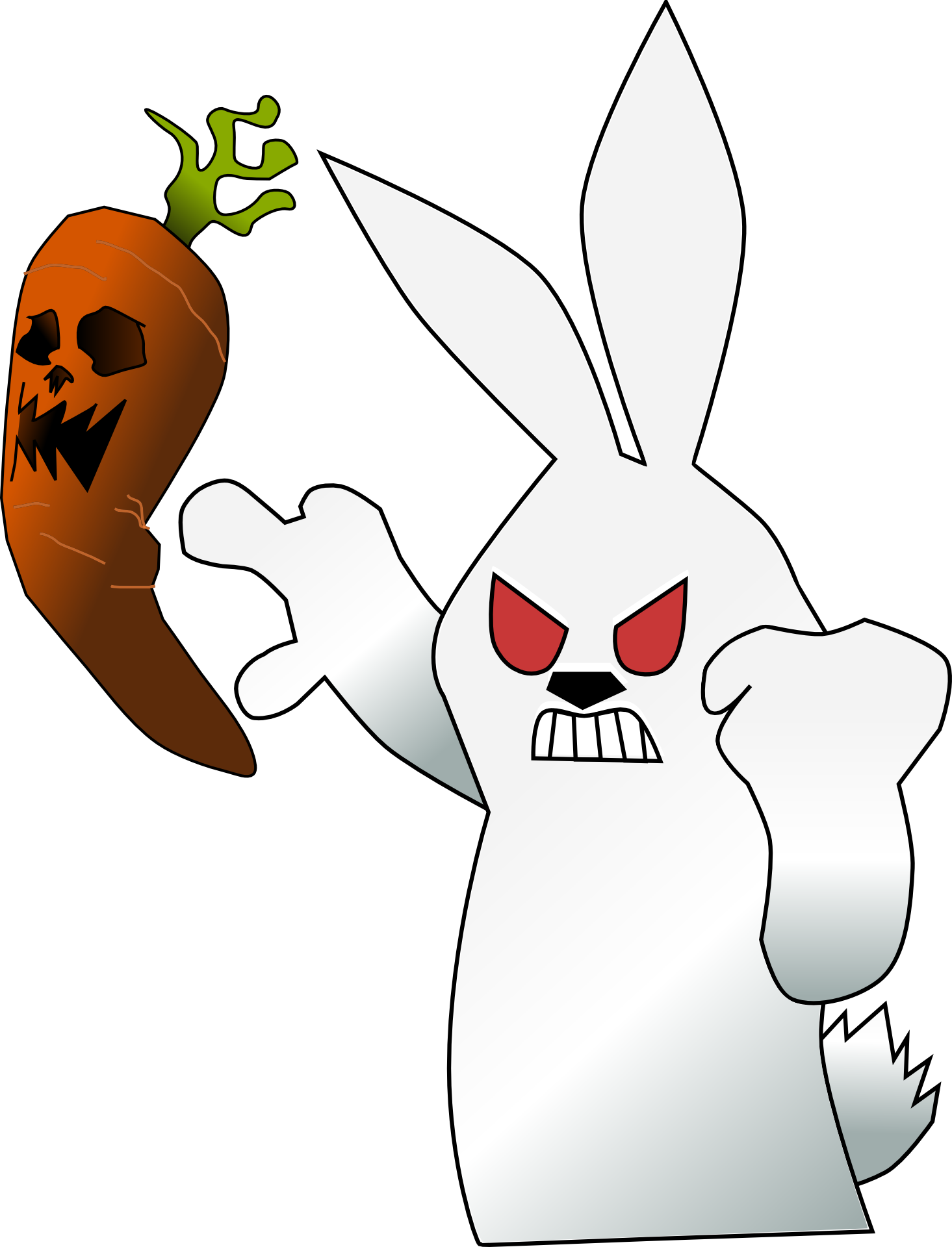Clipart rabbit carrot. Bunny angry mad free