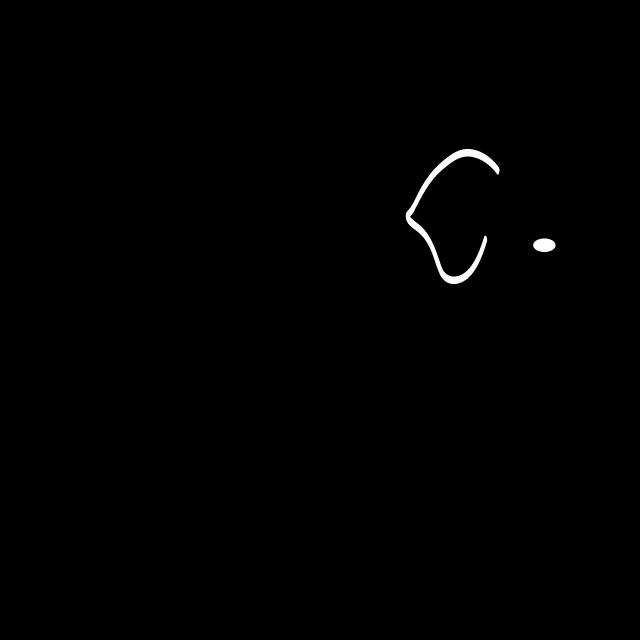 Clipart rabbit elephant. Animal silhouette free illustrations
