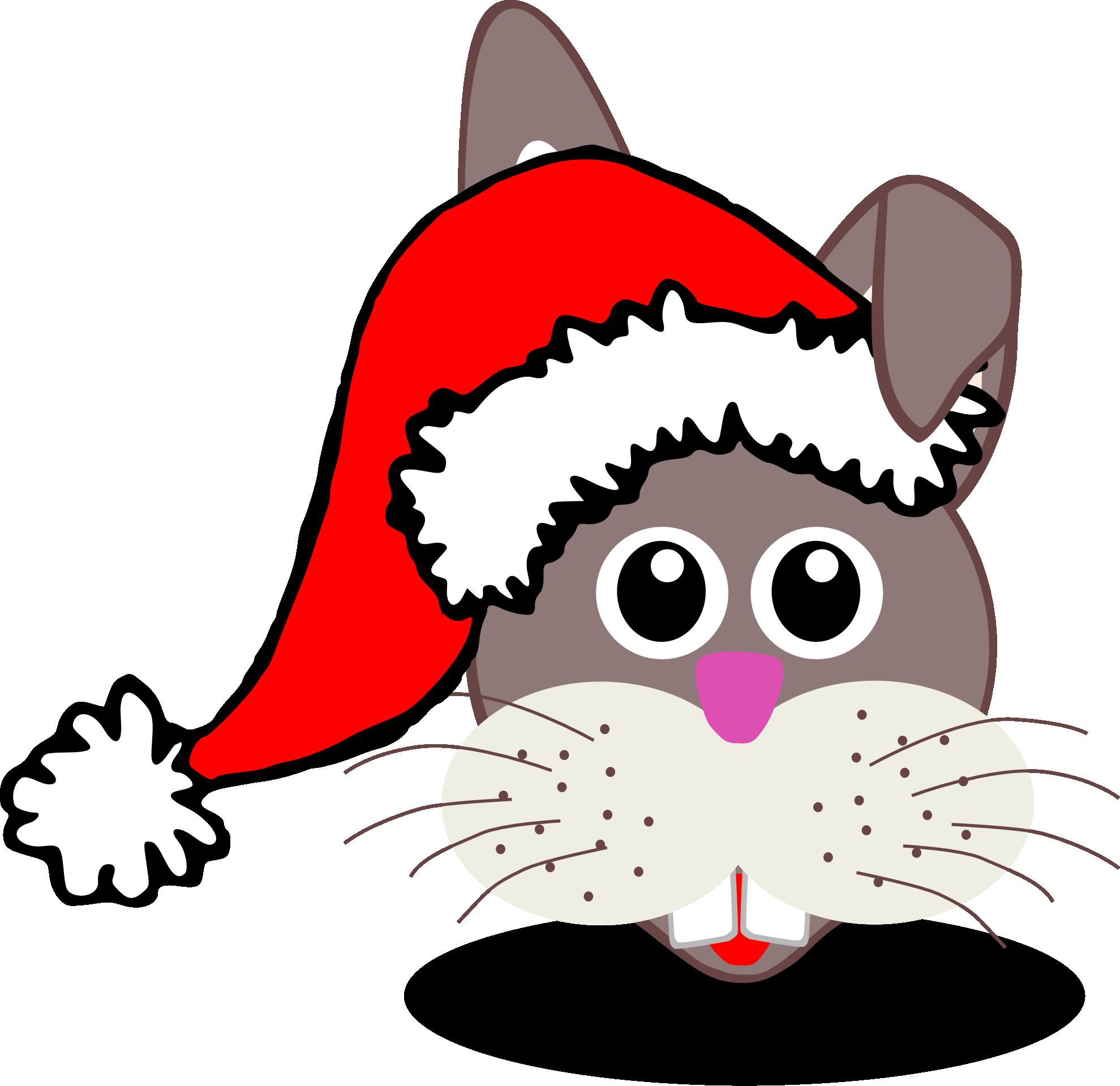 Clipart rat christmas. Rabbit face panda free