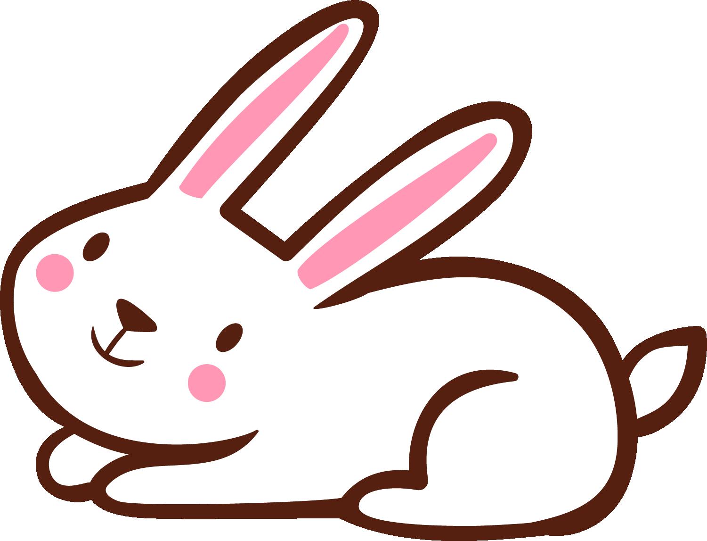 Domestic clip white cartoon. Clipart rabbit line art