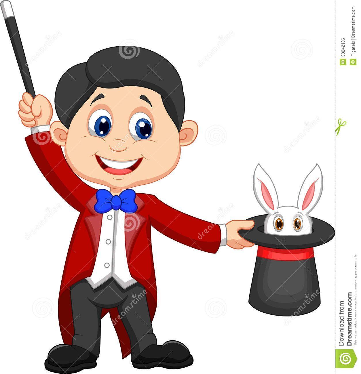 Magician clipart magicien. A holding top hat