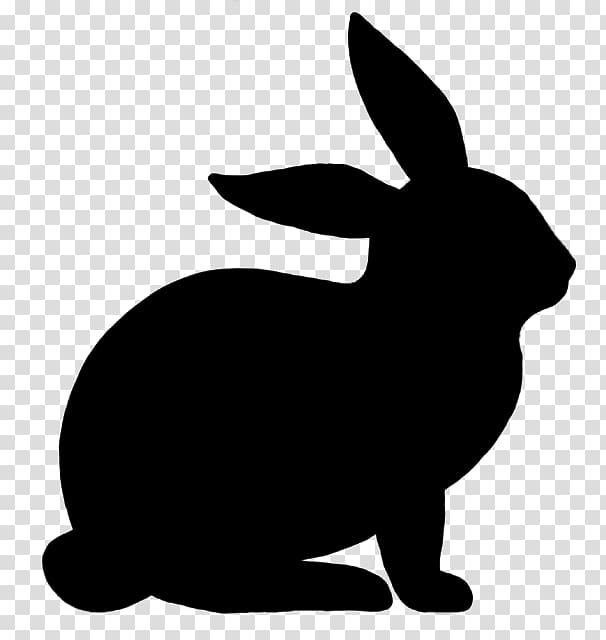 Hare easter bunny silhouette. Clipart rabbit mammal