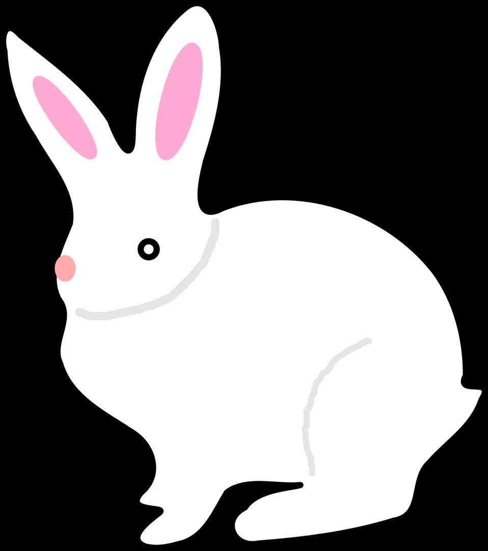 Clipart rabbit mammal. Public domain clip art
