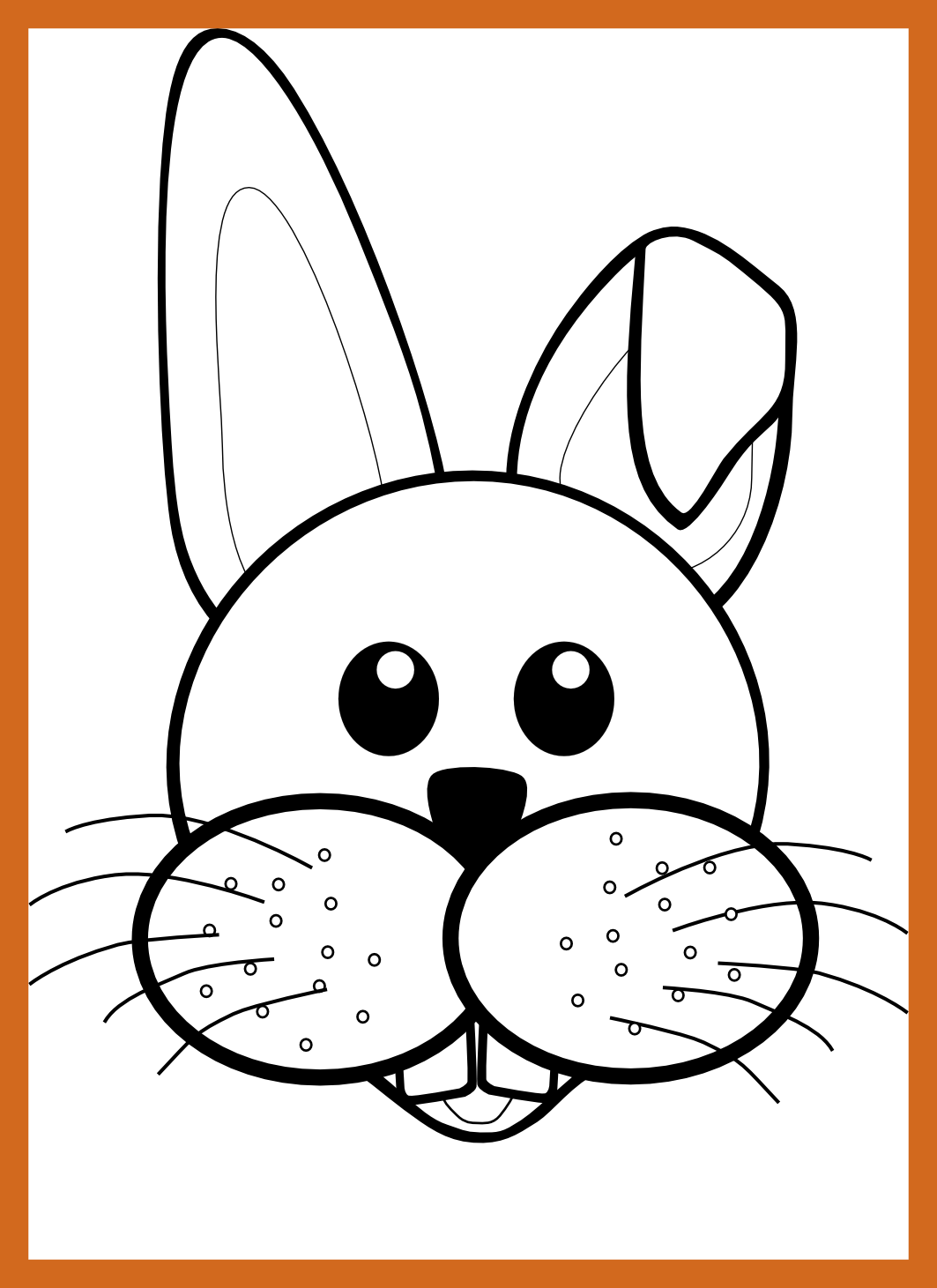 Shocking black and white. Faces clipart cute bunny