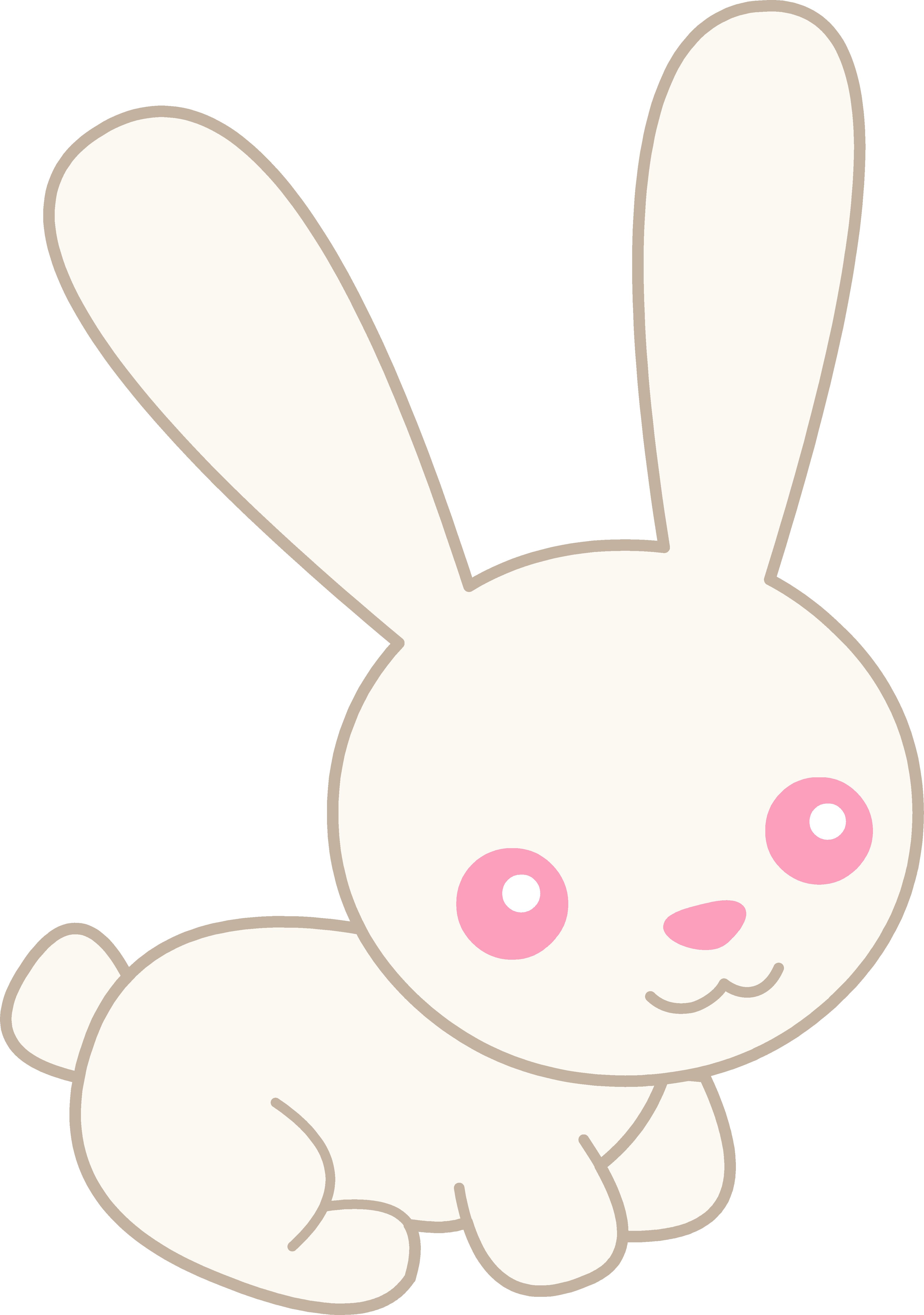 Clipart rabbit pretty. Cute white albino bunny