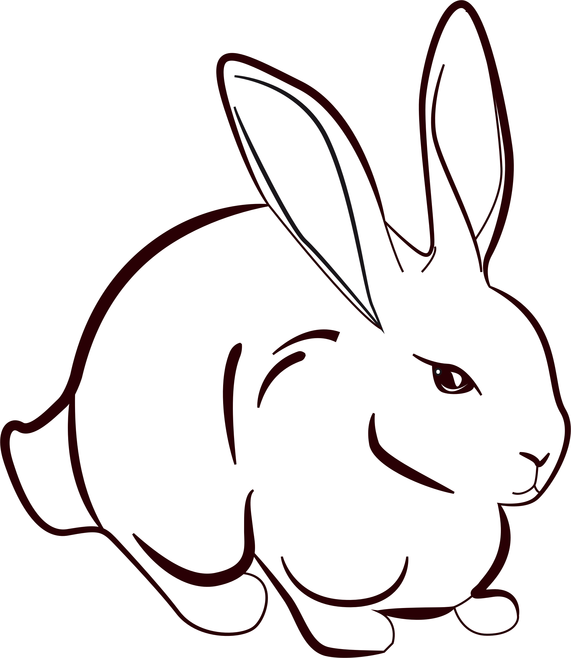 Image result for line. Clipart rabbit print