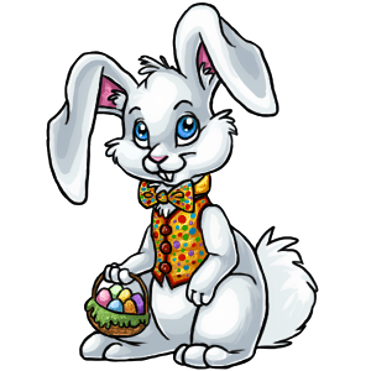 Bunny drawing to print. Olaf clipart easter