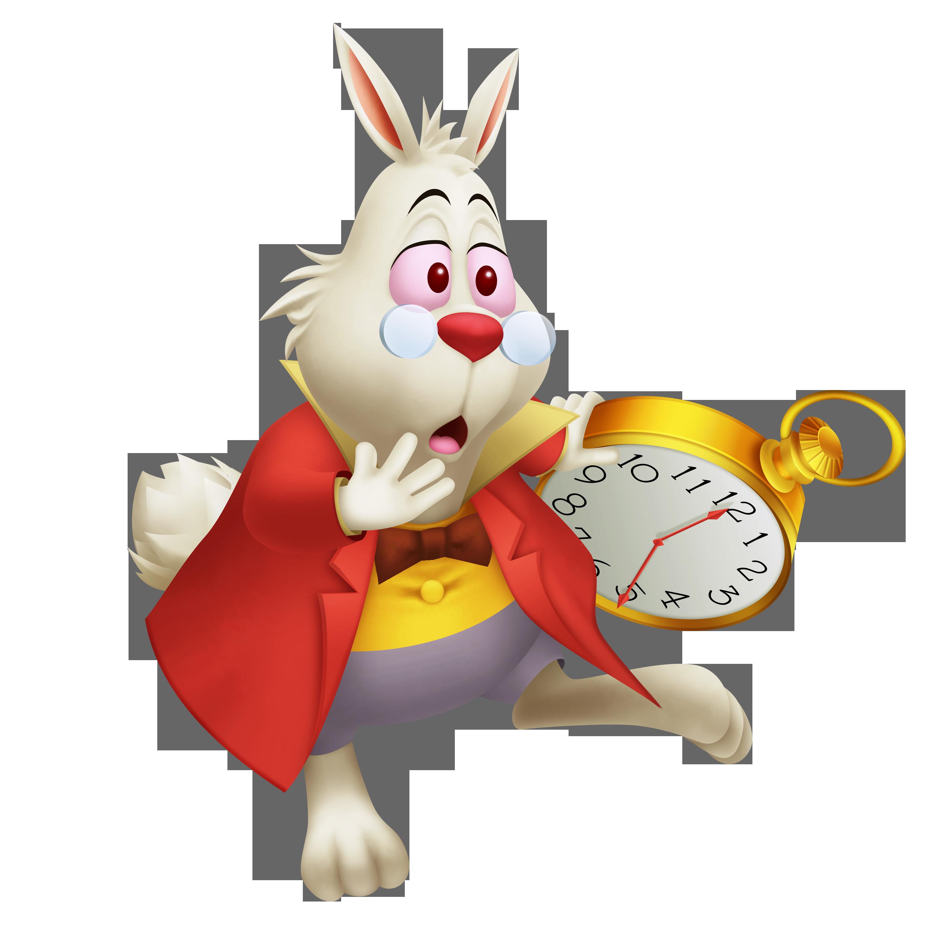 Clocks clipart alice in wonderland rabbit. Image white khrec png