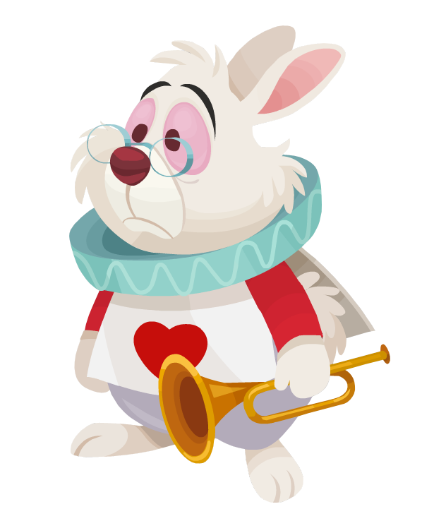 Image white rabbit kingdom. Hearts clipart character