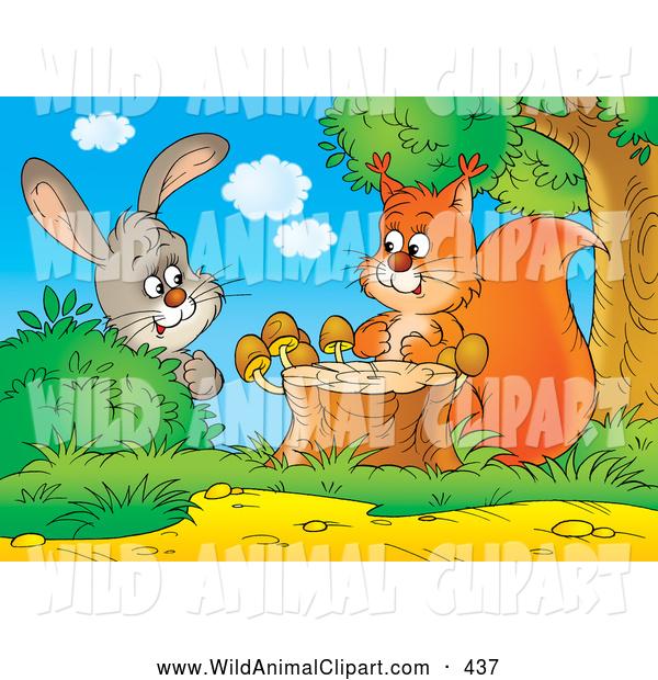 Clipart squirrel rabbit. Clip art of a