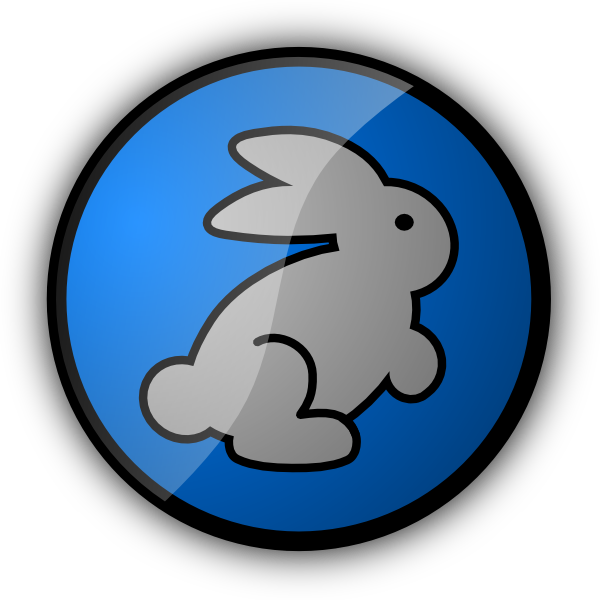 In blue clip art. Clipart rabbit swimming