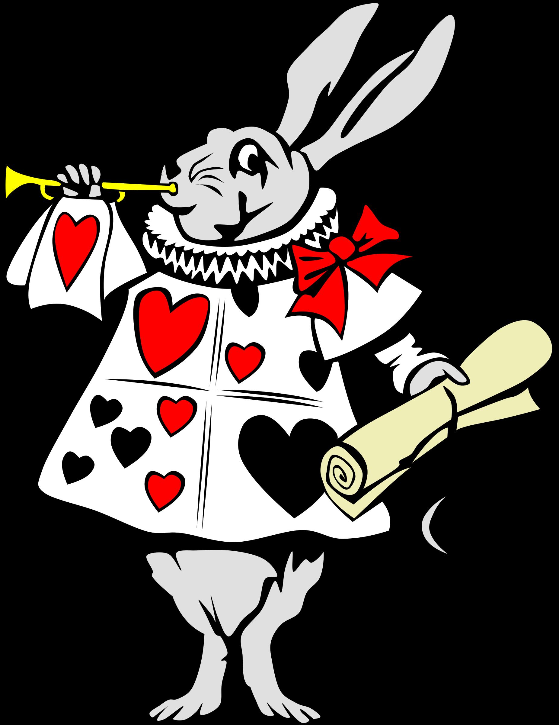Clipart rabbit swimming. From alice in wonderland
