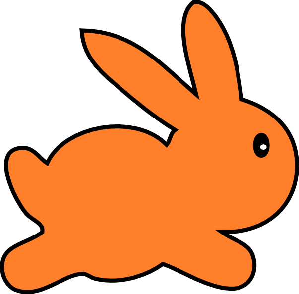 Clipart rabbit vector. Orange free collection download