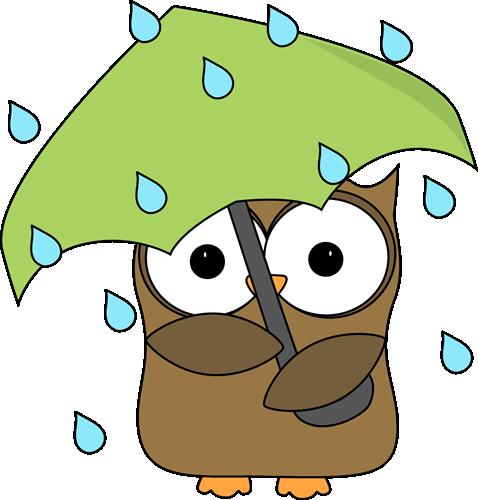 Clipart rain. Clip art images owl