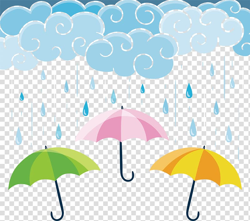 Clipart umbrella banner. Illustraiton graphic design rain