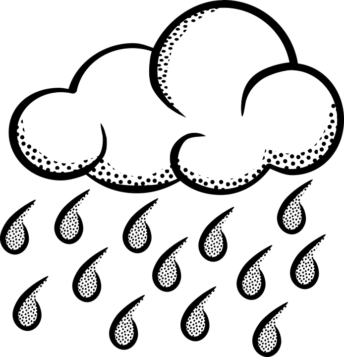 Clipart rain black and white. Png weather transparent clouds