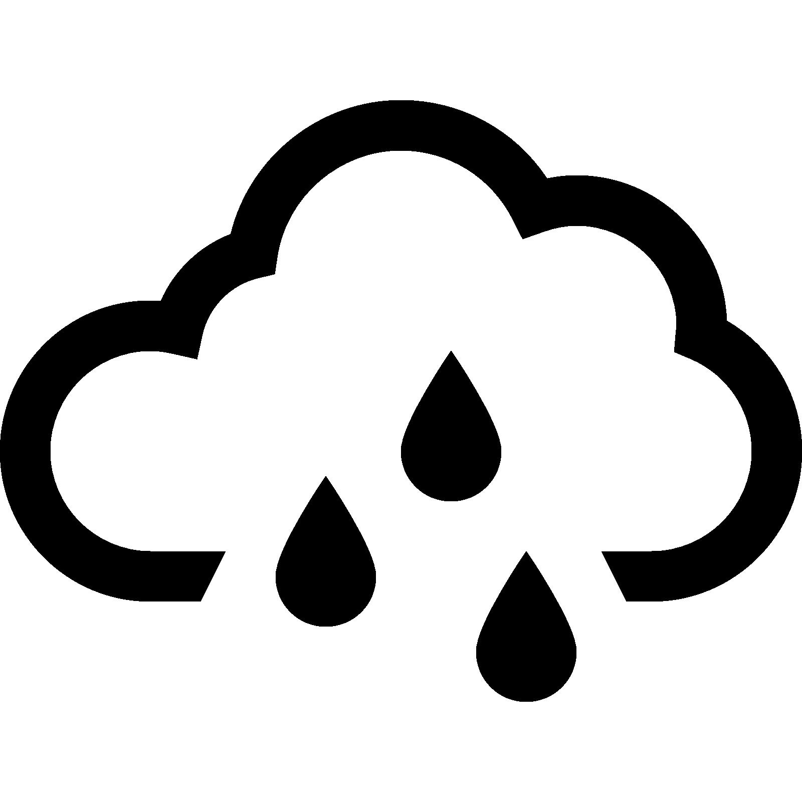 clipart rain black and white
