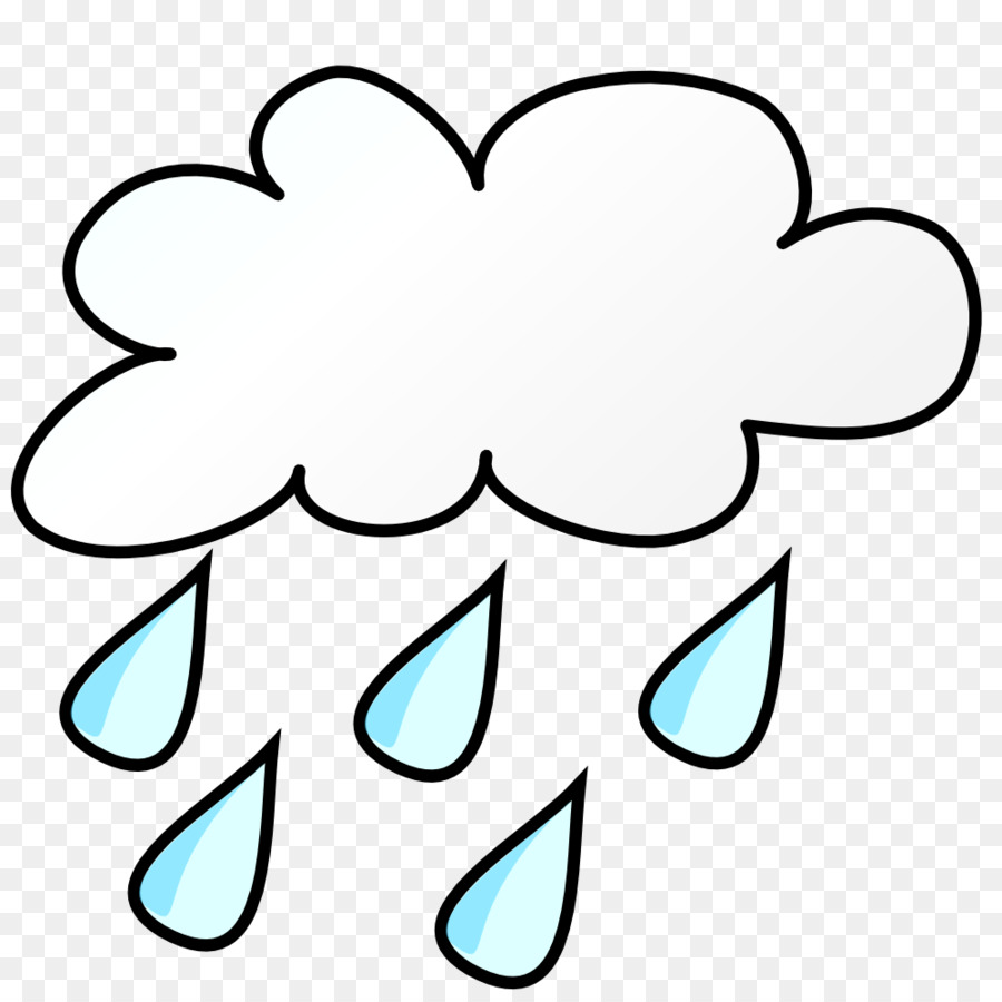 Clipart rain black and white. Flower cloud thunderstorm