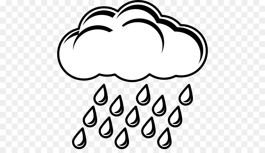 Png free . Clipart rain black and white
