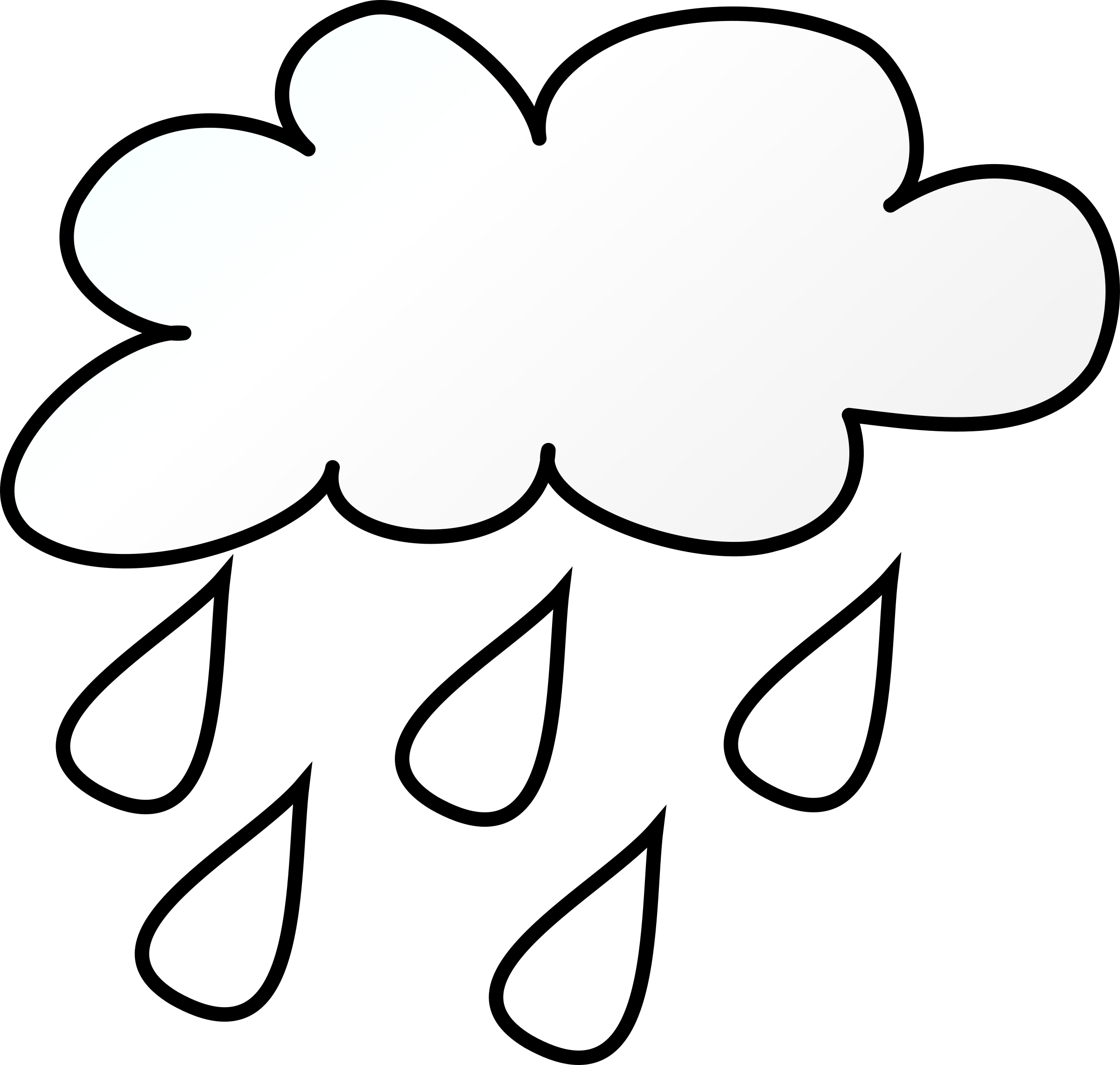 Clipart rain black and white. Line art big image