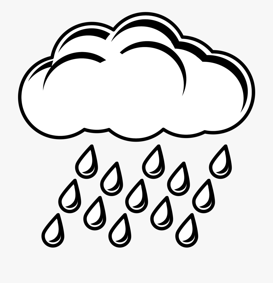Clipart rain black and white. Image of cloud clipartoons