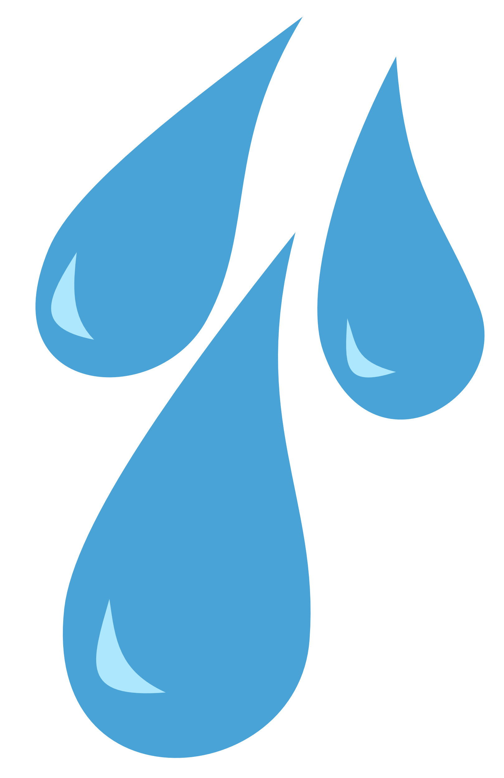 collection of rain. Water clipart vector