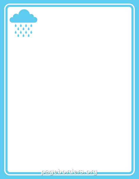 Border clip art page. Clipart rain borders