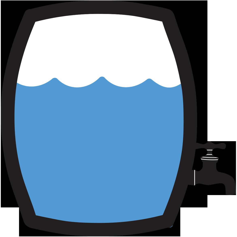 Rain barrels mellitus type. Diabetes clipart icon
