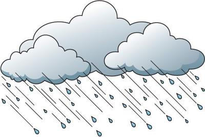 Clipart rain chance rain. Thunderstorms possible snow on