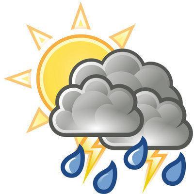 Clipart rain chance rain. Thursday forecast percent of