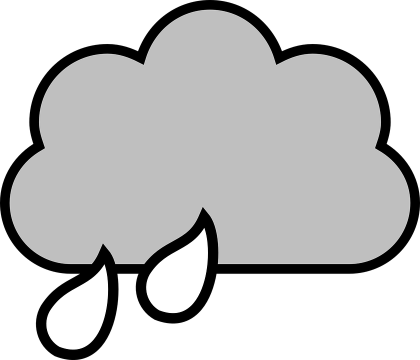 Raindrops draw free on. Thoughts clipart cloud