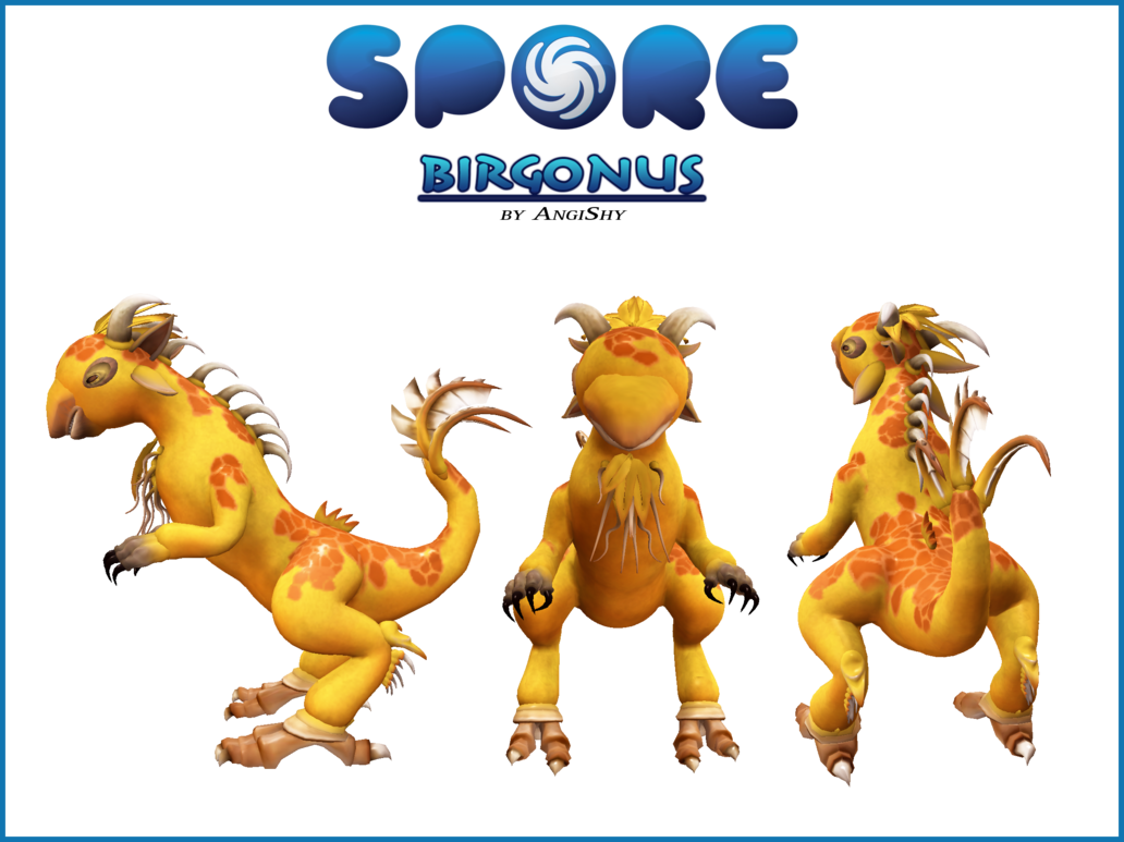 Clipart rain creature. Spore custom download birgonus
