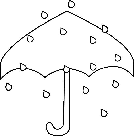Clipart umbrella winter. Black and white rain