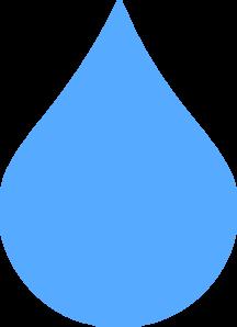 Light blue drop clip. Clipart rain drip