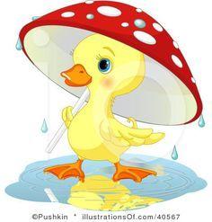 Baby duck animal . Ducks clipart rain clip art