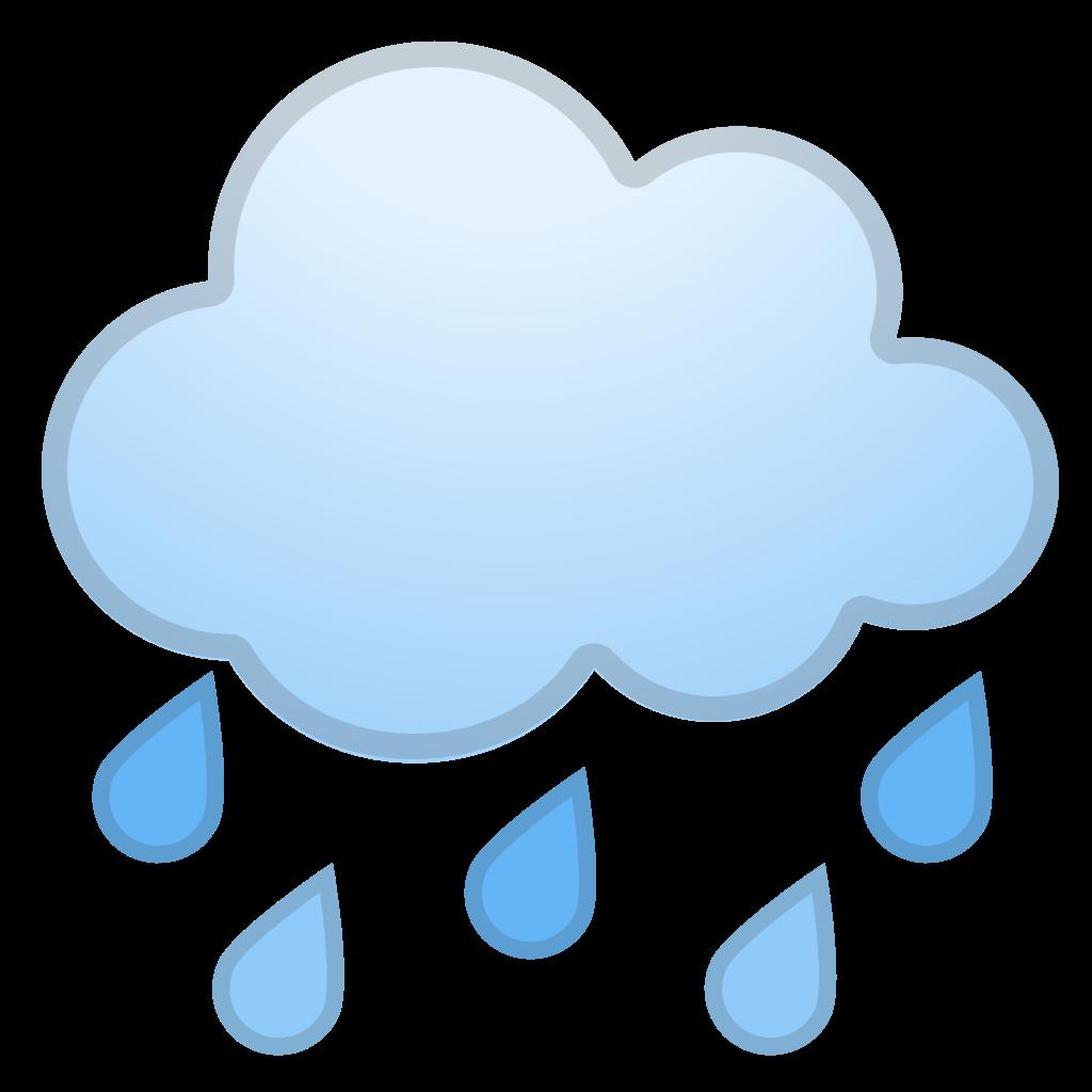 Clipart rain emoji. Cloud with icon noto