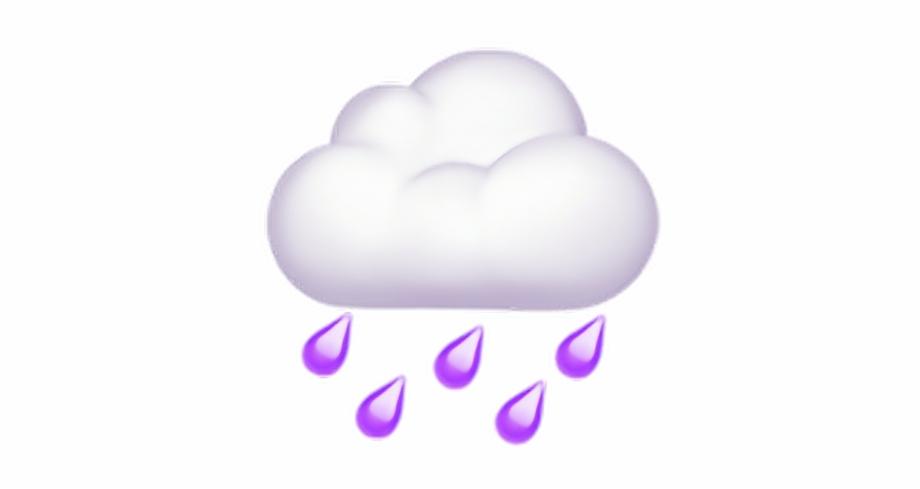 Cloud transparent free png. Clipart rain emoji